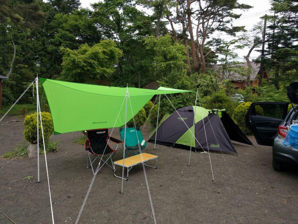 テント準備後