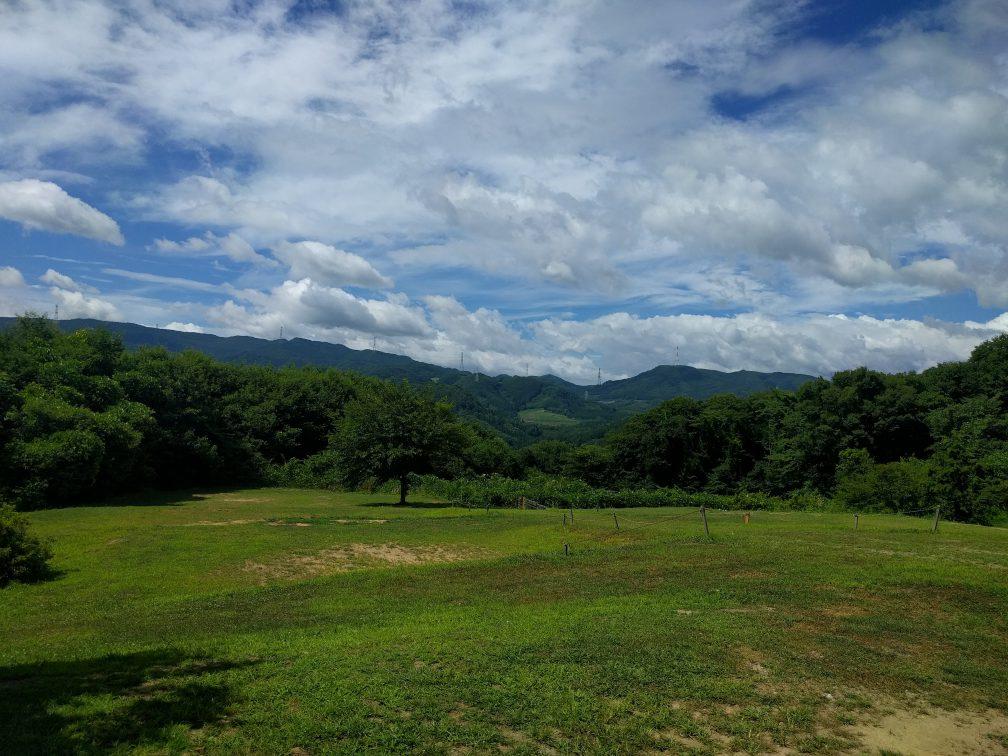 上毛高原キャンプ場の景色