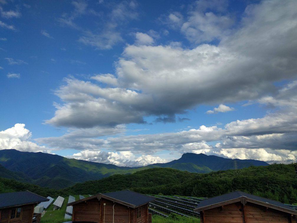みなかみキャンプ場の景色